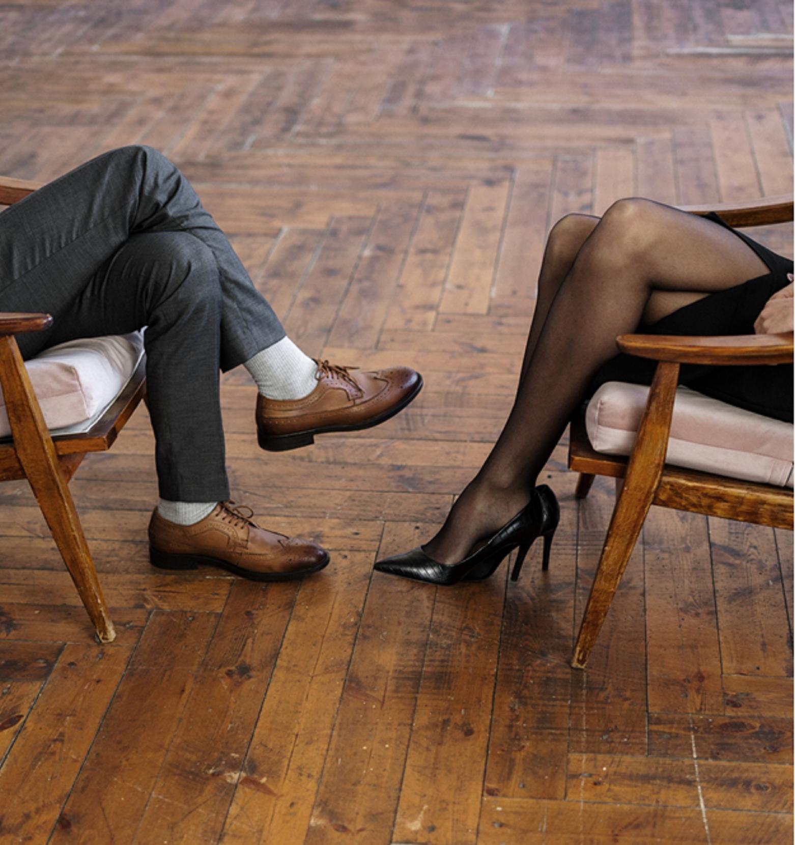 Conversing Couple